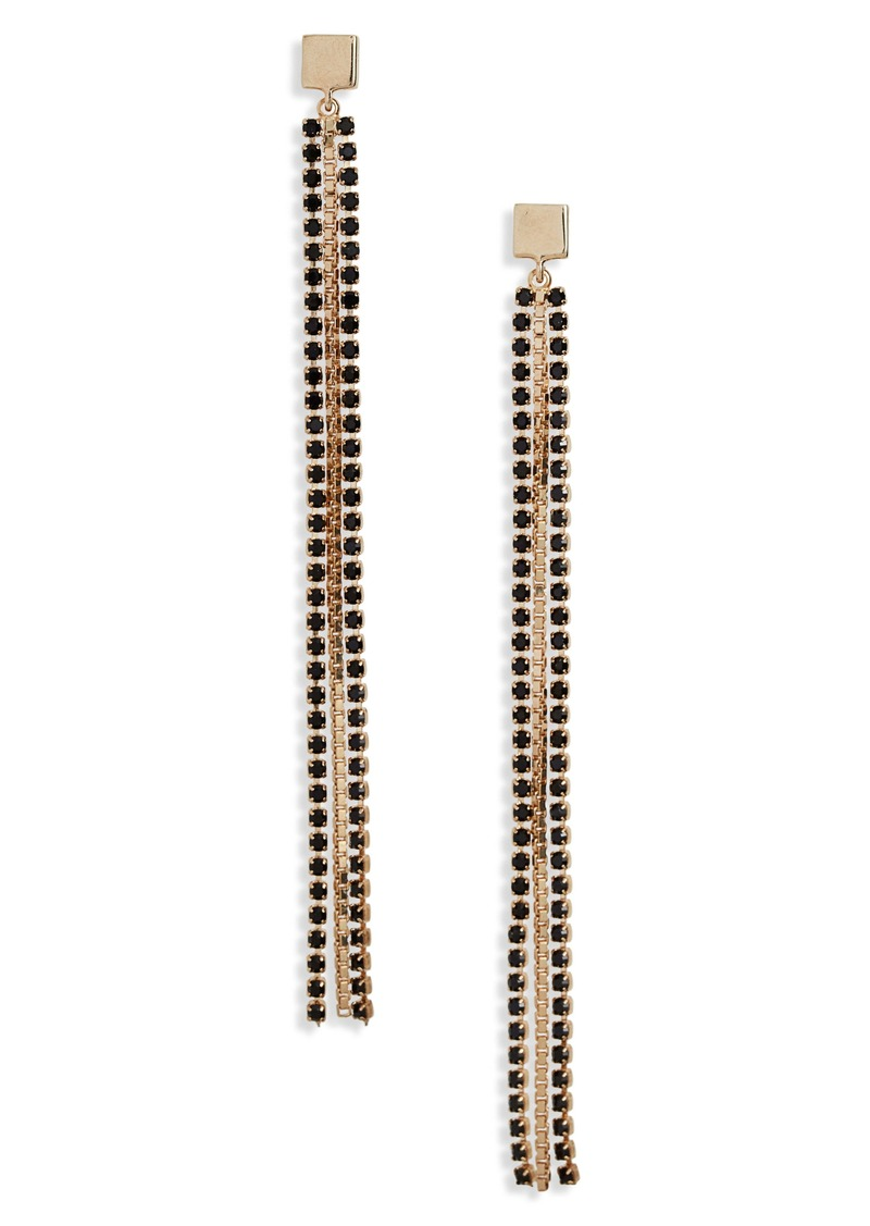 Halogen® Stone Chain Linear Drop Earrings