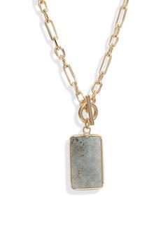 Halogen® Stone Pendant Toggle Necklace
