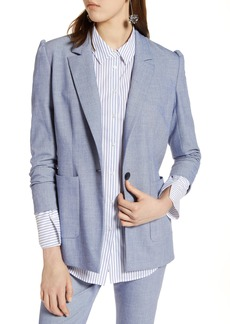 Halogen® Stretch Woven Suit Blazer (Regular & Petite)