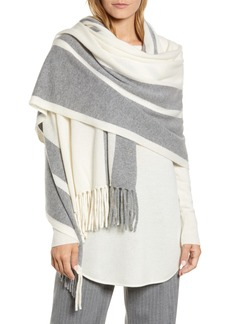 Halogen® Stripe Cashmere Wrap Scarf