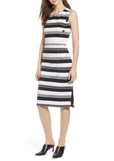 Halogen® Stripe Knit Dress (Regular & Petite)