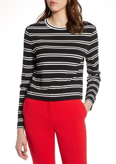 Halogen® Stripe Knit Top (Regular & Petite)
