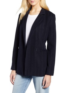 Halogen® Stripe Suit Jacket (Regular & Petite)