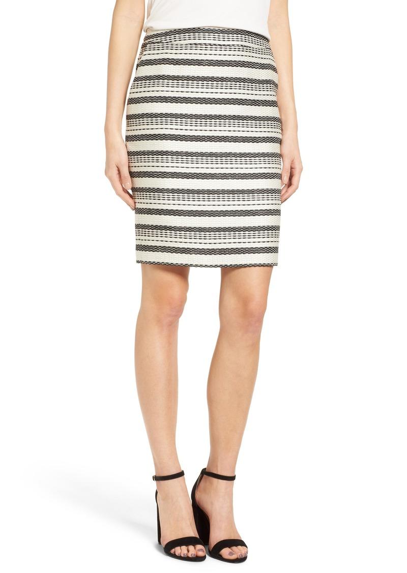 Halogen® Stripe Tweed Pencil Skirt