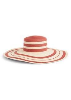 Halogen® Stripe Wide Brim Hat