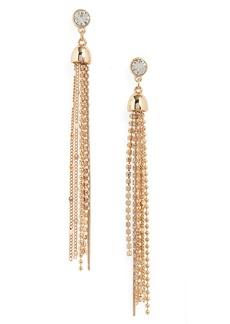 Halogen® Stud to Tassel Earrings