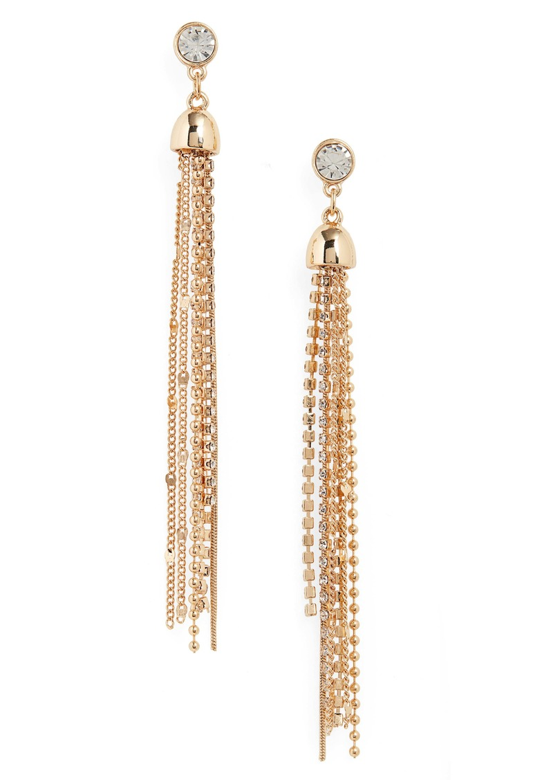 Halogen® Stud to Tassel Earrings