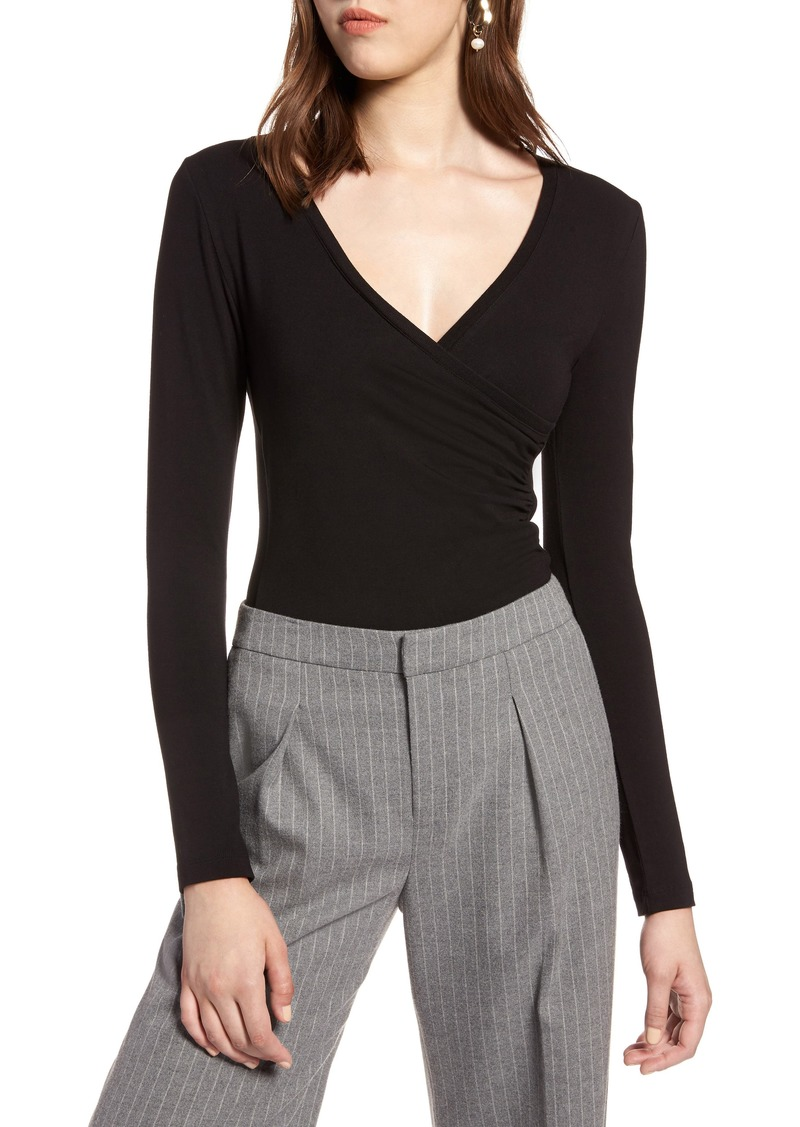 Halogen® Surplice Knit Top (Regular & Petite)