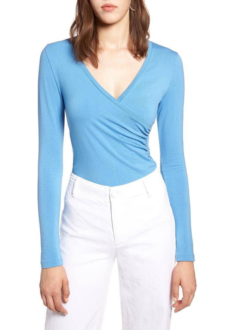 e479553743b4e Halogen Halogen® Surplice Knit Top (Regular   Petite)
