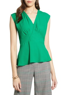 Halogen® Surplice Peplum Top
