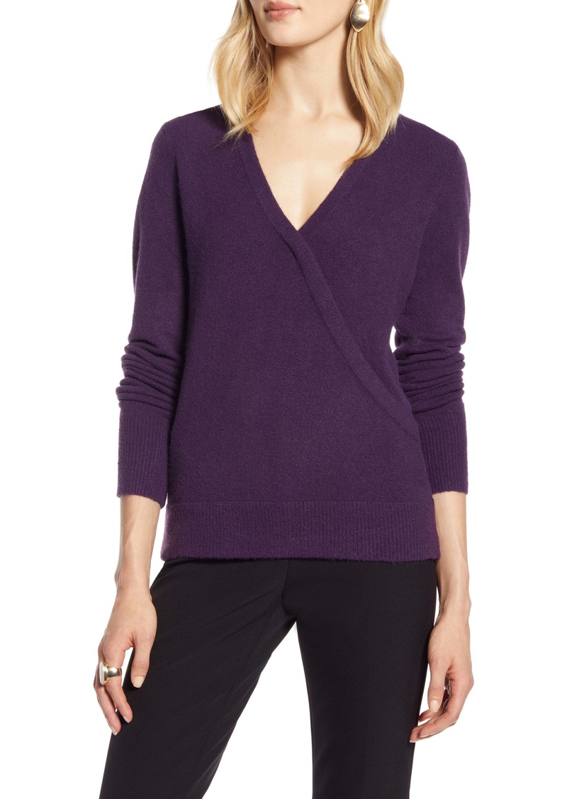 Halogen® Surplice Sweater