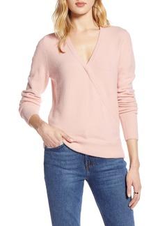 Halogen® Surplice Sweater