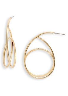 Halogen® Swirl Hoop Earrings