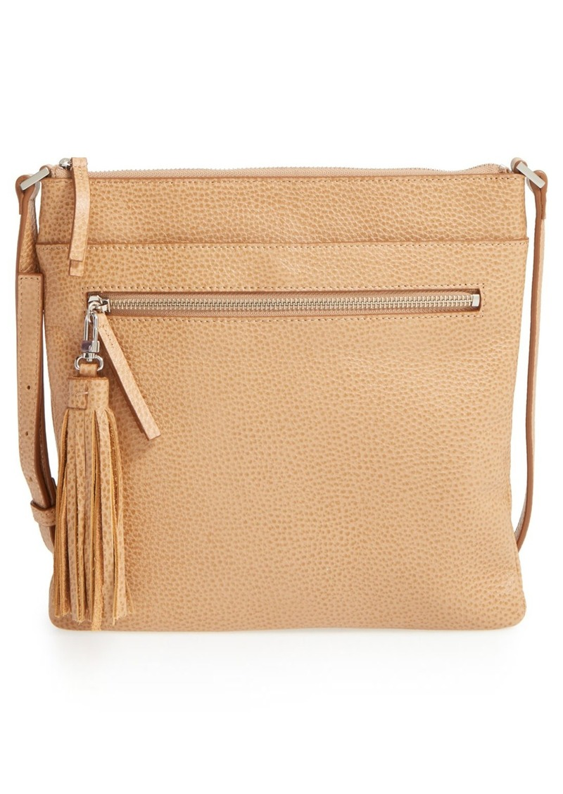 027c54491a Halogen Halogen® Tasseled Leather Crossbody Bag