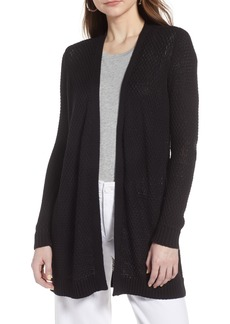 Halogen® Textured Cotton Knit Cardigan (Regular & Petite)