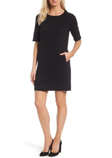 Halogen® Textured Elbow Sleeve Tunic Dress (Regular & Petite)