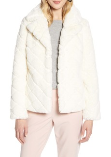 Halogen® Textured Faux Fur Jacket