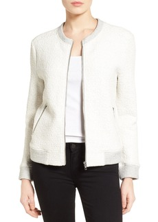 Halogen® Textured Knit Bomber Jacket (Regular & Petite)