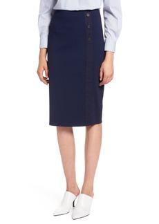 Halogen® Textured Ponte Pencil Skirt (Regular & Petite)