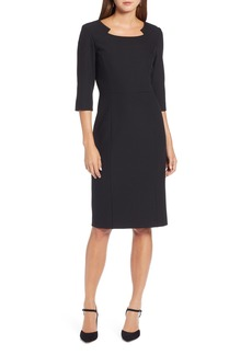 Halogen® Textured Stretch Sheath Dress (Regular & Petite)