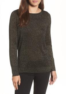 Halogen® Tie Back Shimmer Sweater (Regular & Petite)