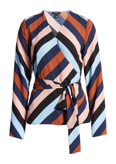 Halogen® Tie Detail Wrap Blouse