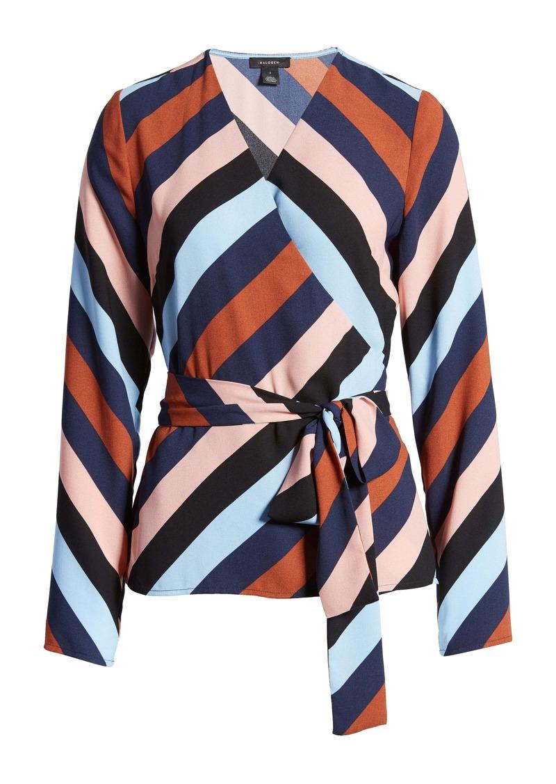 Halogen® Tie Detail Wrap Blouse