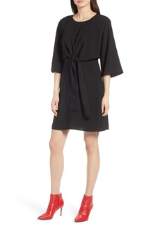 Halogen® Tie Front Dress (Regular & Petite)
