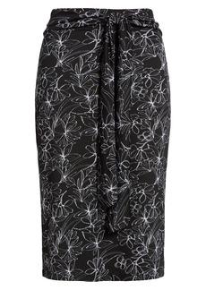 Halogen® Tie Front Knit Skirt
