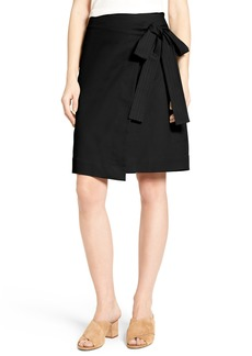 Halogen® Tie Front Skirt (Regular & Petite)