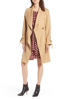 Halogen® Tie Sleeve Trench Coat (Regular & Petite)