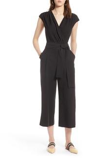 Halogen® Tie Waist Crop Jumpsuit (Regular & Petite)