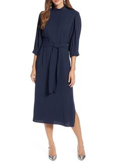 Halogen® Tie Waist Dress (Regular & Petite)