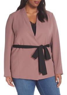 Halogen® Tie Waist Jacket (Plus Size)