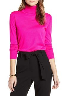 Halogen® Turtleneck Merino Wool Blend Sweater