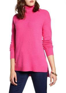 Halogen® Turtleneck Wool Blend Tunic Sweater (Regular & Petite)