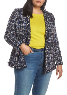 Halogen® Tweed Jacket (Plus Size)