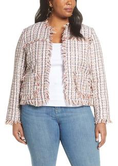 Halogen® Tweed Jacket (Plus Size)