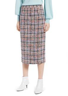 Halogen® Tweed Midi Skirt (Regular & Petite)