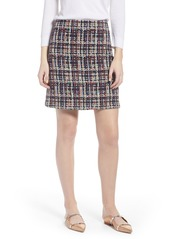 Halogen® Tweed Mini Skirt (Regular & Petite)