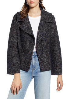 Halogen® Tweed Moto Jacket (Regular & Petite)