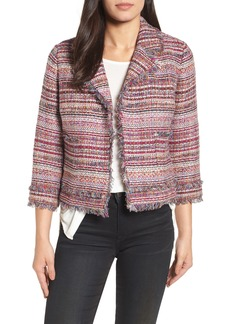 Halogen® Tweed Open Front Jacket (Regular & Petite)