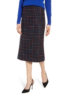Halogen® Tweed Pencil Skirt