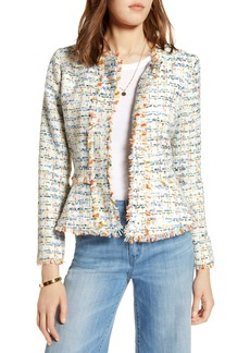 Halogen® Tweed Peplum Jacket