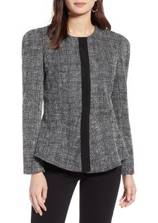 Halogen® Tweed Peplum Jacket (Regular & Petite)