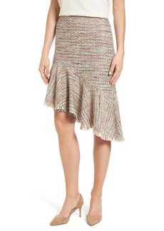 Halogen® Tweed Ruffle Skirt (Regular & Petite)