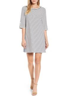 Halogen® Twill Tape Trim Knit Dress