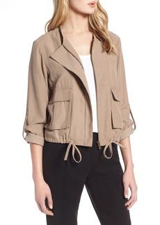 Halogen® Twill Zip Front Jacket (Regular & Petite)