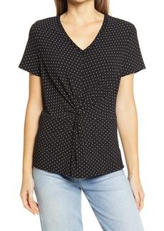 Halogen® Twist Detail T-Shirt