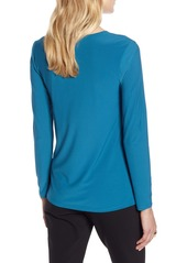 Halogen® Twist Front V-Neck Top